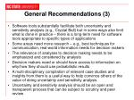 general recommendations 3