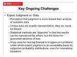 key ongoing challenges