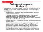 technology assessment findings 1