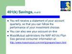 401 k savings 4 of 5