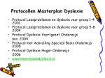 protocollen masterplan dyslexie