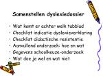 samenstellen dyslexiedossier