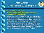 arts group crm issues examples28