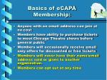 basics of ecapa membership