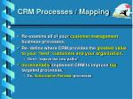 crm processes mapping