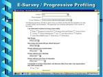 e survey progressive profiling