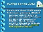 ecapa spring 2002