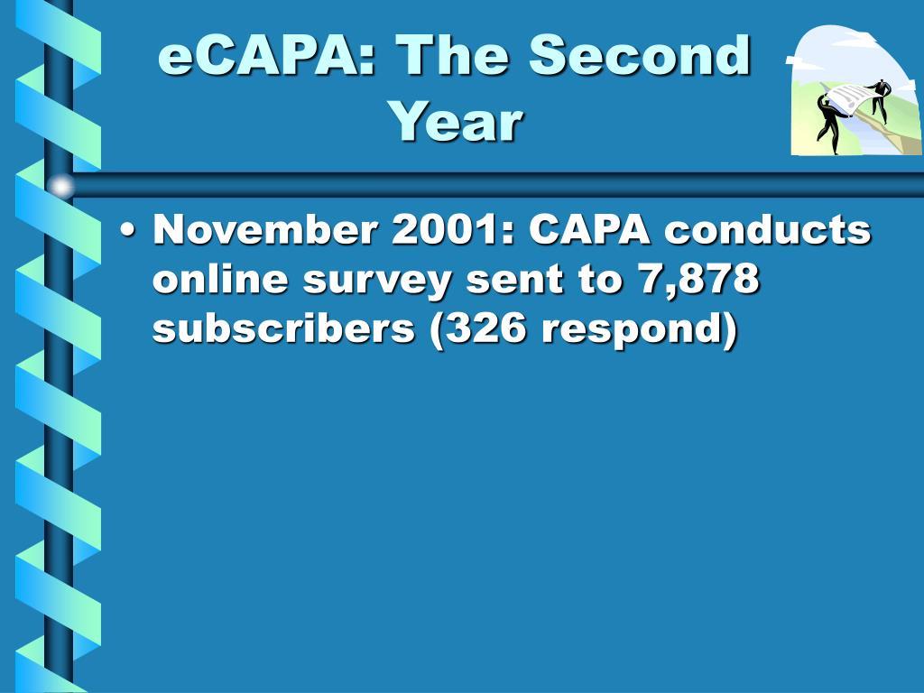 eCAPA: The Second Year