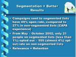 segmentation better results