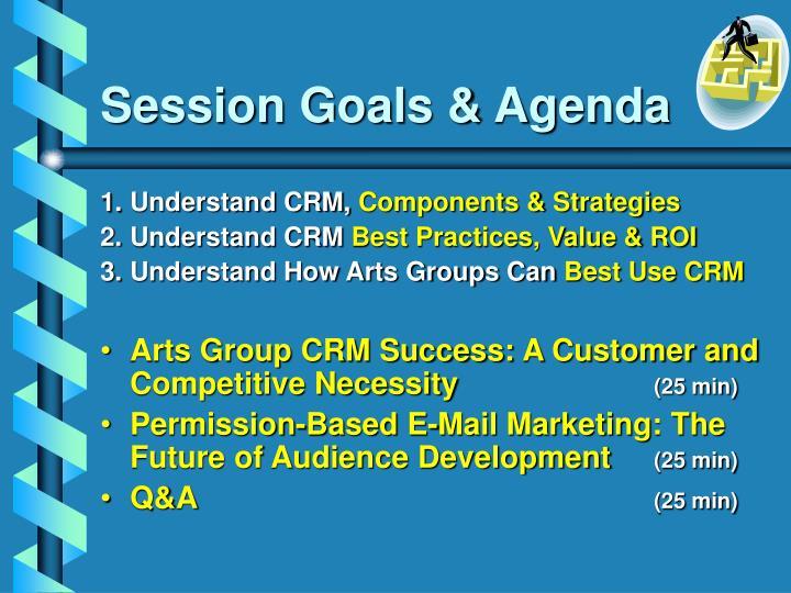 Session goals agenda
