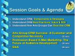 session goals agenda