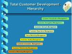 total customer development hierarchy