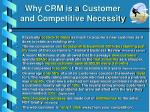 why crm is a customer and competitive necessity
