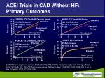 acei trials in cad without hf primary outcomes