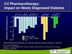 cv pharmacotherapy impact on newly diagnosed diabetes