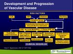 development and progression of vascular disease