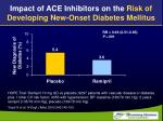 impact of ace inhibitors on the risk of developing new onset diabetes mellitus