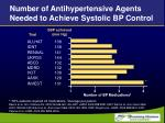 number of antihypertensive agents needed to achieve systolic bp control