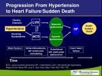 progression from hypertension to heart failure sudden death