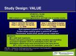 study design value