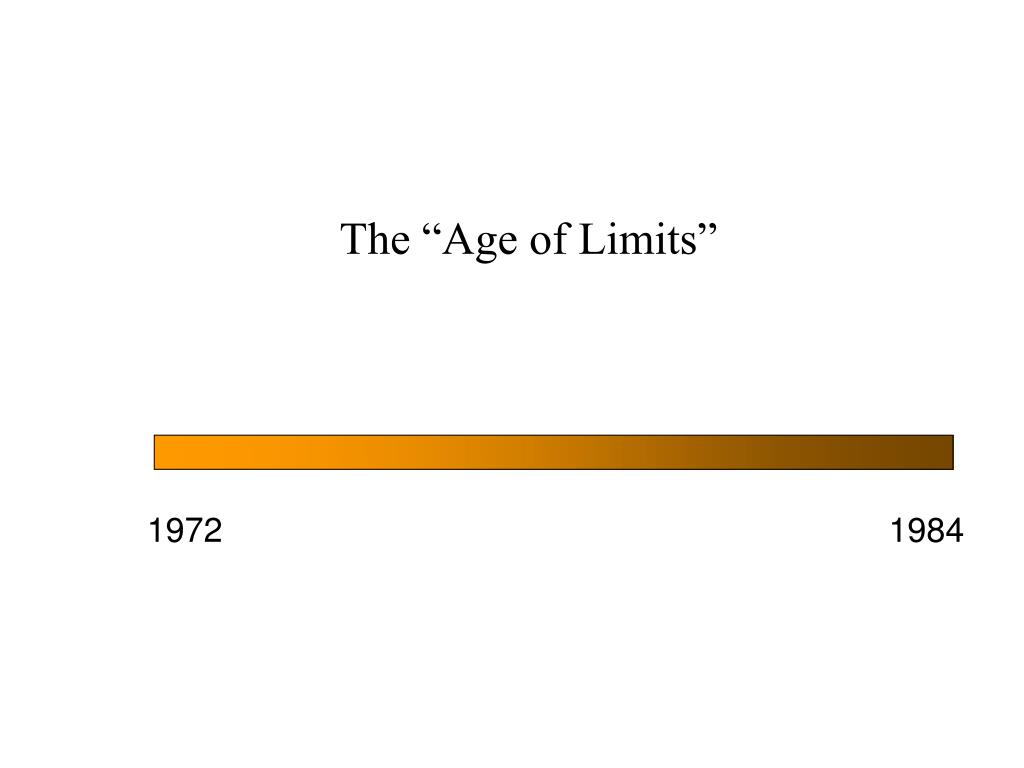 the age of limits l.