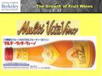 the growth of fruit wines23