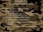 chapter 1 1 survival preparedness