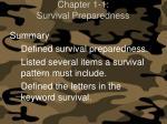 chapter 1 1 survival preparedness12