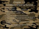 chapter 1 2 conditions affecting survival