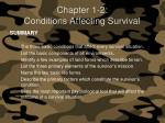 chapter 1 2 conditions affecting survival25