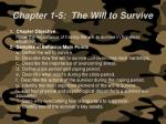 chapter 1 5 the will to survive57