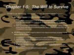 chapter 1 5 the will to survive58