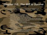 chapter 1 5 the will to survive59