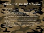 chapter 1 5 the will to survive60