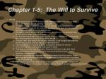 chapter 1 5 the will to survive61
