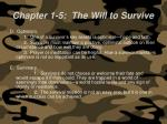 chapter 1 5 the will to survive62