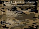chapter 2 1 basic survival medicine