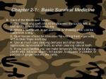 chapter 2 1 basic survival medicine67