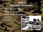 unit 2 personal protection
