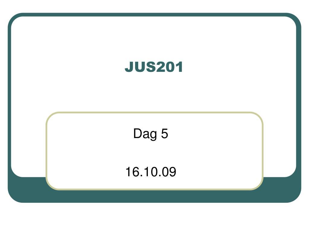 jus201 l.