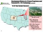 development history of a proven proprietary and patented gtl ctl technology continued23