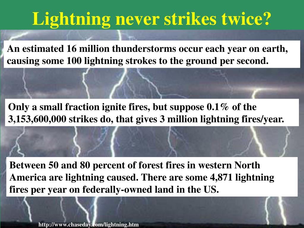Lightning never strikes twice?