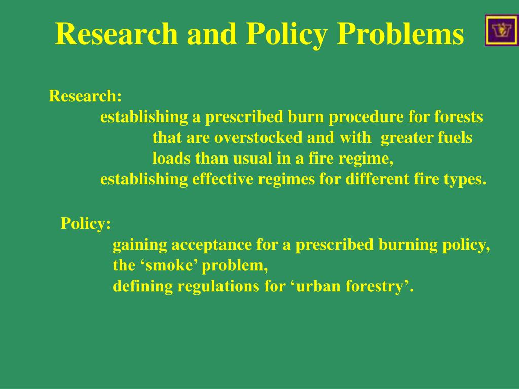 Research and Policy Problems
