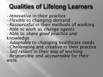 qualities of lifelong learners