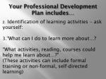 your professional development plan includes35