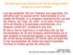 estudio para una declaraci n de las obligaciones respecto al ser humano