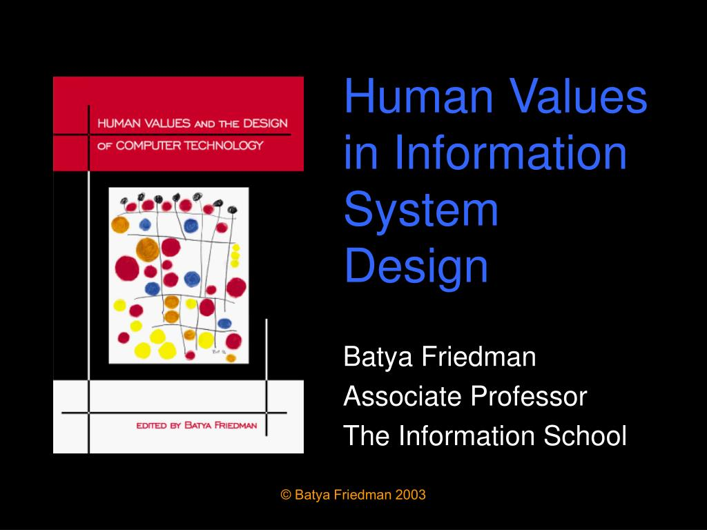 human values in information system design l.