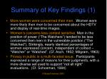 summary of key findings 1