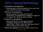 vsd s tripartite methodology