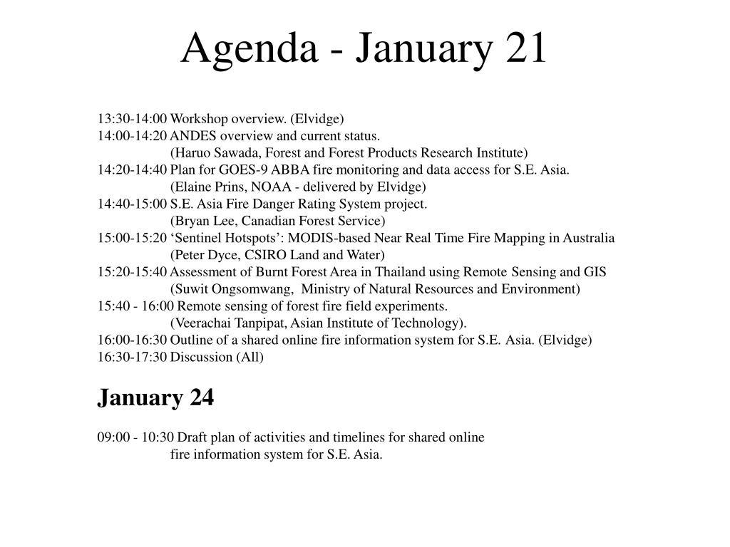 Agenda - January 21
